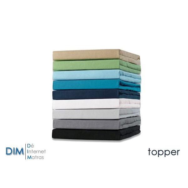 Hoeslaken Topper jersey stretch van het merk DIM