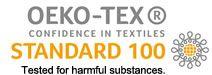Oeko-tex 100, getest voor geen gevaarlijke substanties.