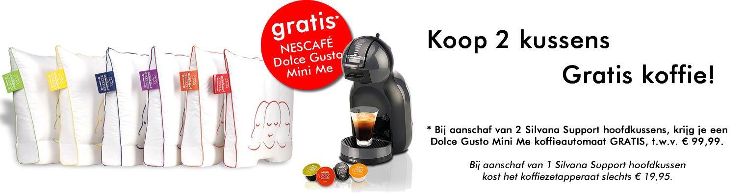 Bij aankoop van 2 Silvana Support kussens NESCAFÉ Dolce Gusto Mini Me kado!