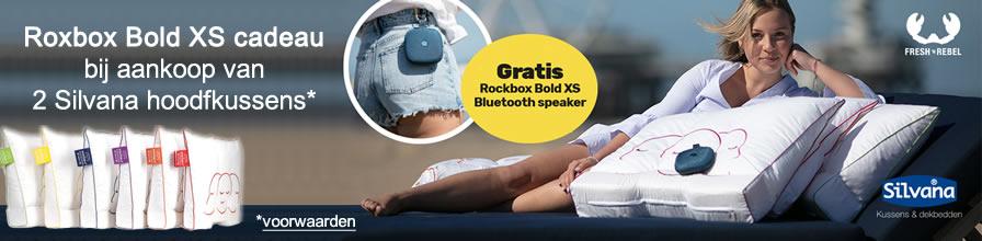 Bij aankoop van 2 Silvana Support kussens Rockbox Bold XS - Portable bluetooth speaker - kado!