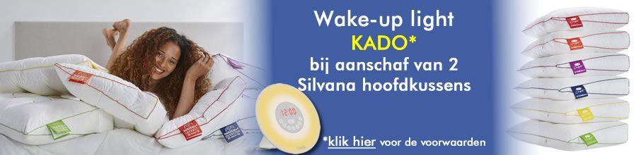 Bij aankoop van 2 Silvana Support kussens Wake Up Light kado!