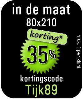 Kortingscode matras tijk 90x200 of 80x210