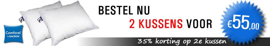 Koop 2 kussens en krijg 35% korting!!