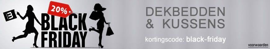 Black Friday bij matrassen.nl. Alle dekbedden en kussens met 20% korting!