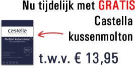 Castella kussenmolton gratis bij een van onze Castella hoofdkussens.