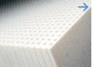 Schuim matrassen: Latex, koudschuim, vormschuim (traagschuim of NASA schuim) en polyether link.