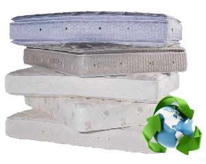 Onze matrassen worden gerecycled.