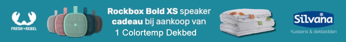 Silvana actie Rockbox Bold XS gratis bij dekbed!