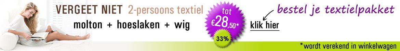 2-persoons textiel pakket voor de wig en pont 'd amour!