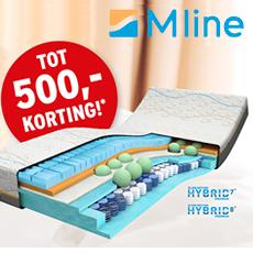 M-Line matras met 250 euro korting.