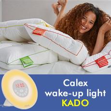 Calex wake-up light kado bij aanschaf van 2 Silvana neksteunkussens.